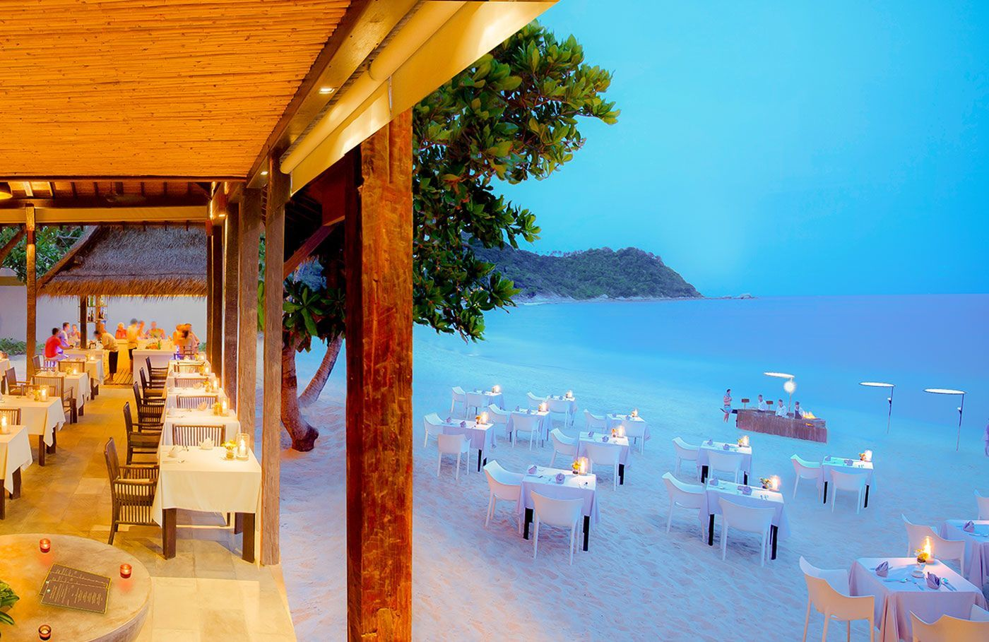 Koh Phangan beach dining