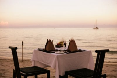 feet in the sand dining experience Samui