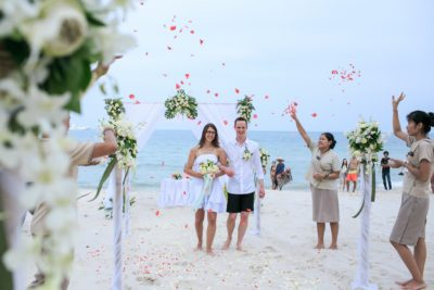 Chaweng beach wedding