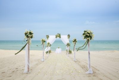 Chaweng beach romantic wedding